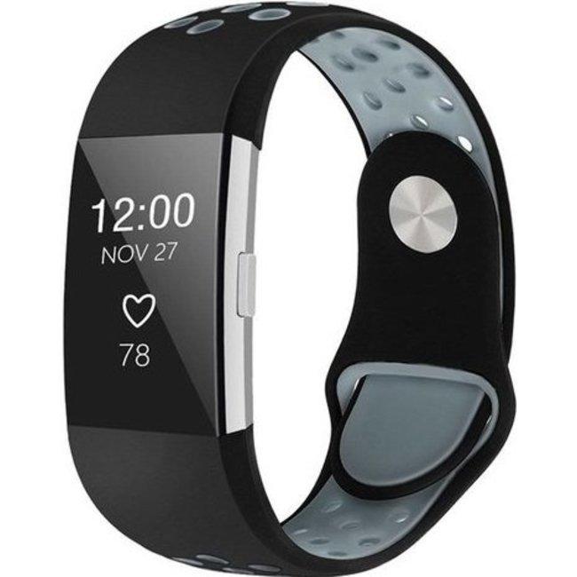 Marque 123watches Fitbit charge 2 bracelet sportif  - noir gris