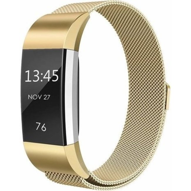 Marque 123watches Fitbit charge 2 milanese band - or