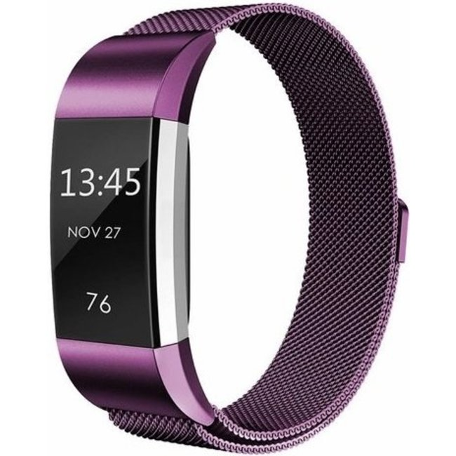 Marque 123watches Fitbit charge 2 milanese band - violet