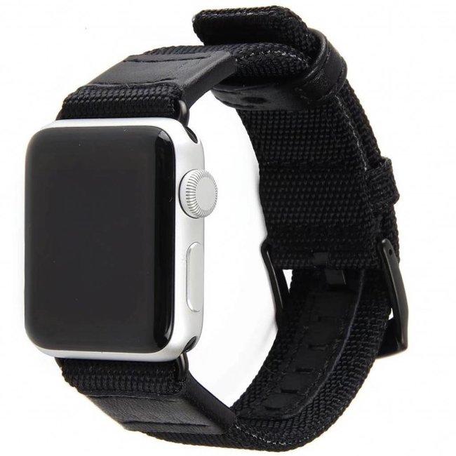 Marque 123watches Apple Watch bande militaire en nylon - noir