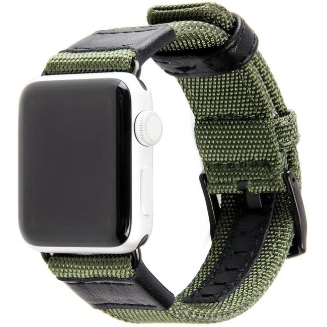 Marque 123watches Apple Watch bande militaire en nylon - vert