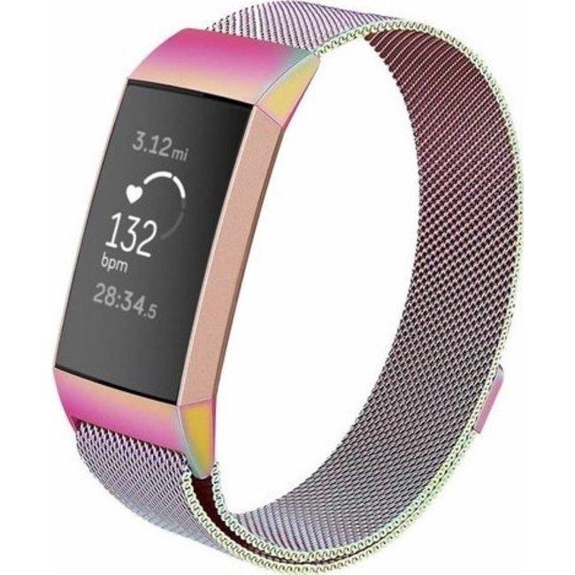 Marque 123watches Fitbit charge 3 & 4 milanais band - coloré
