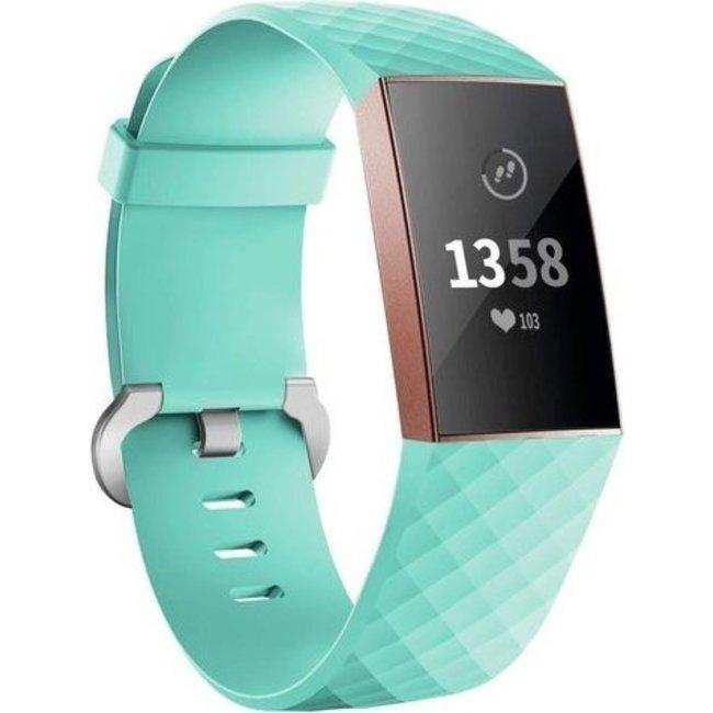 Marque 123watches Fitbit charge 3 & 4 bande de gaufres sport - vert