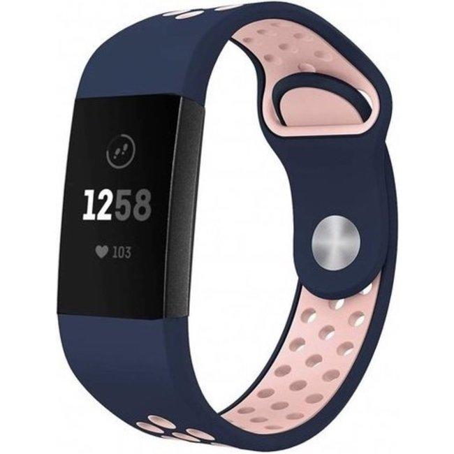Fitbit charge 3 & 4 bracelet sportif  - rose bleu foncé