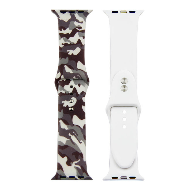 Bracelet de sport imprimé Apple Watch - camouflage