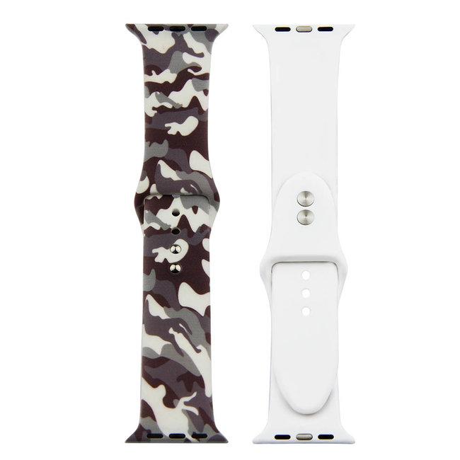 Marque 123watches Bracelet de sport imprimé Apple Watch - camouflage