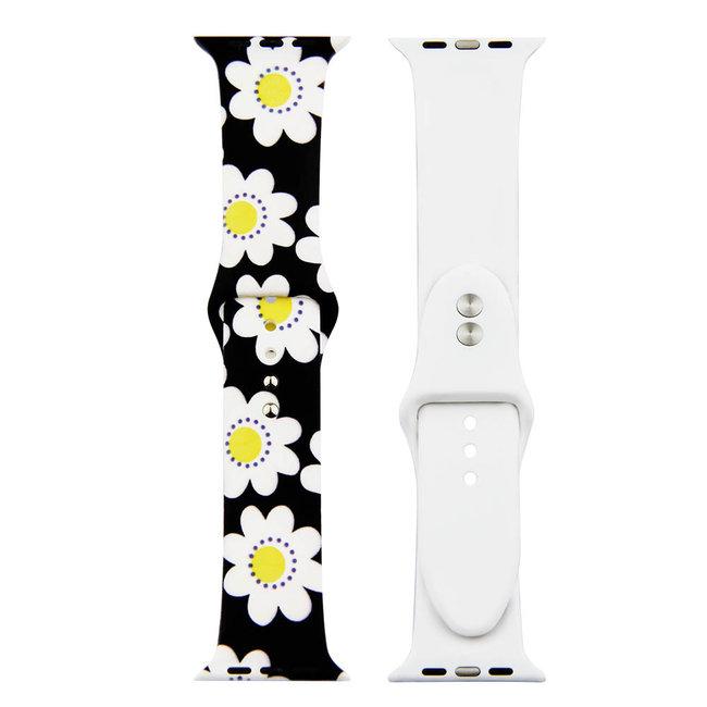 Marque 123watches Bracelet de sport imprimé Apple Watch - marguerite
