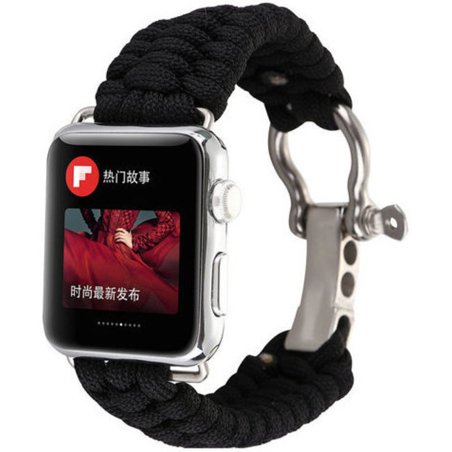 Marque 123watches Apple watch nylon rope band - noir