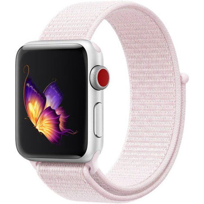 Marque 123watches Apple watch nylon sport loop band - rose