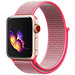 Marque 123watches Apple watch nylon sport loop band -  rose rouge