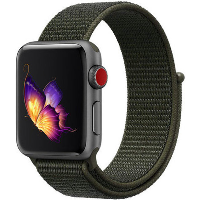 Marque 123watches Apple watch nylon sport loop band - olive