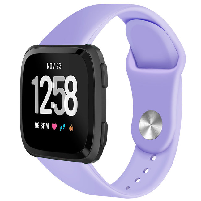 Marque 123watches Fitbit versa silicone sangle - violet clair