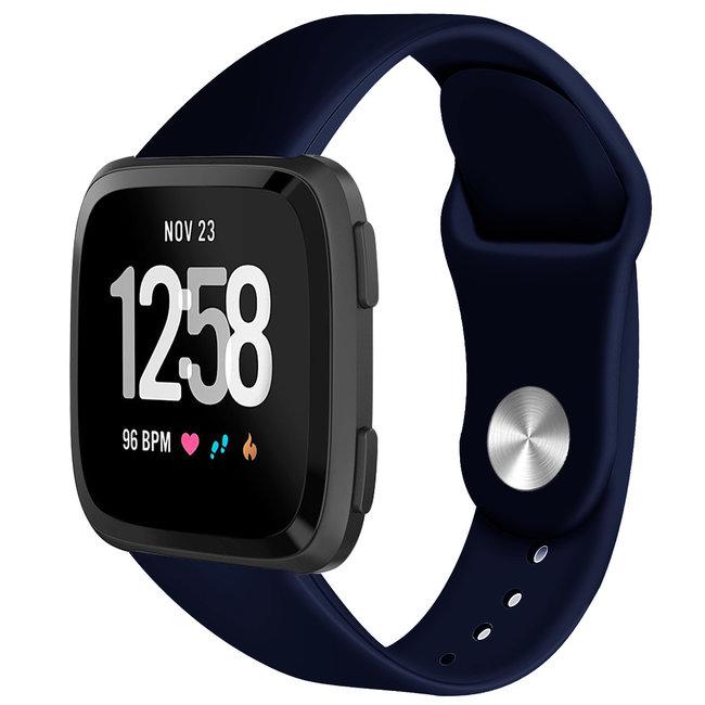 Marque 123watches Fitbit versa silicone sangle - bleu marin