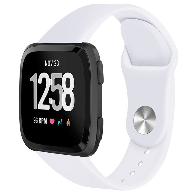 Marque 123watches Fitbit versa silicone sangle - blanc