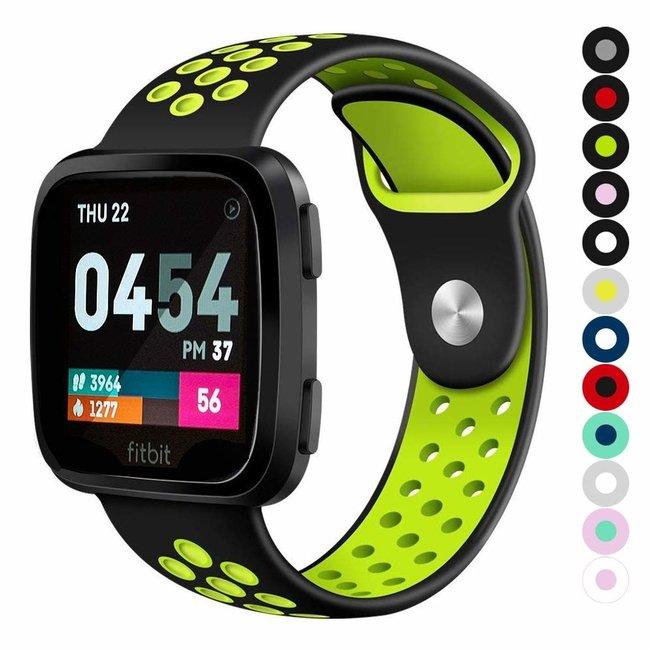 Marque 123watches Fitbit versa double sport sangle - noir vert