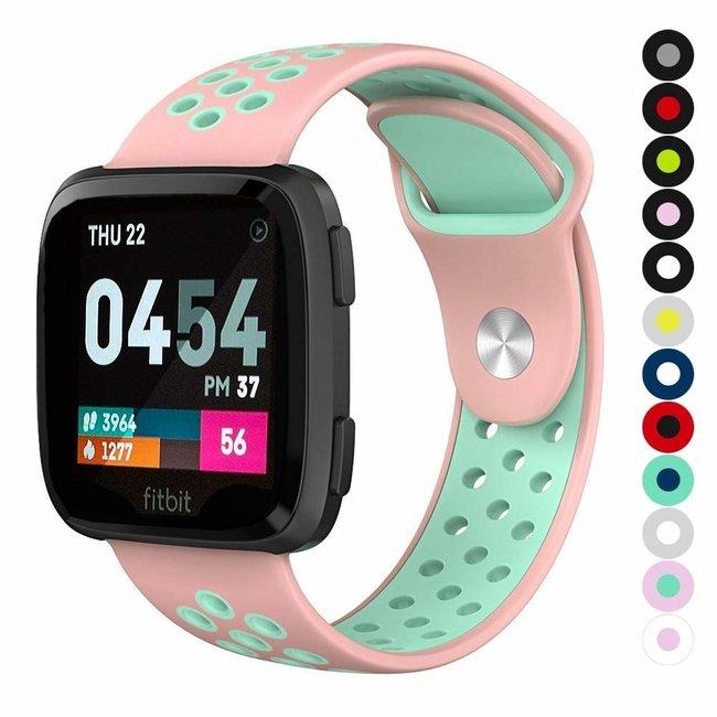 Marque 123watches Fitbit versa double sport sangle - rose bleu clair