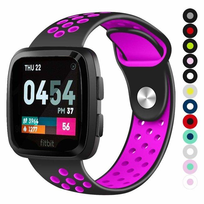 Marque 123watches Fitbit versa double sport sangle - noir violet