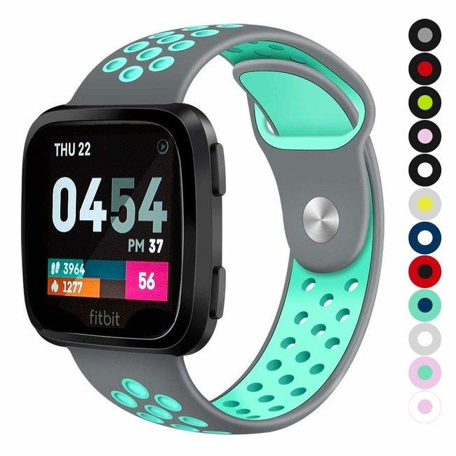 Marque 123watches Fitbit versa doppelt sport band - grau bleu