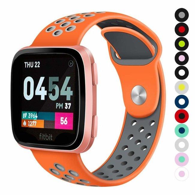 Marque 123watches Fitbit versa doppelt sport band - orange grau