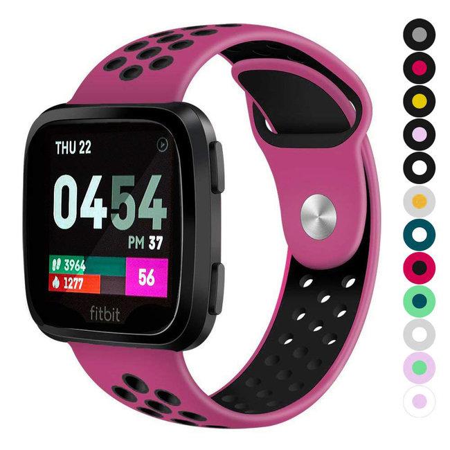 Marque 123watches Fitbit versa doppelt sport band - violet noir