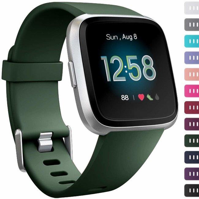 Marque 123watches Fitbit versa sport sangle - vert armée