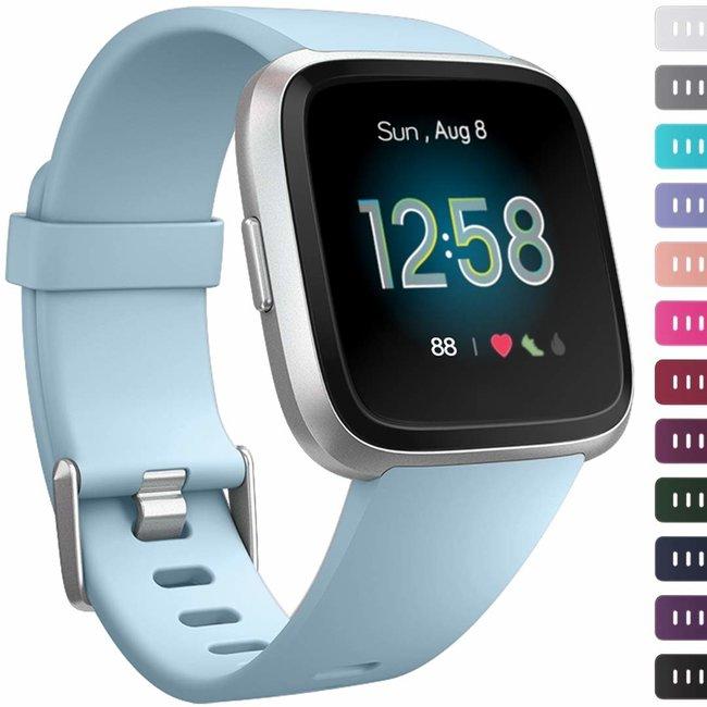 Marque 123watches Fitbit versa sport sangle - bleu clair