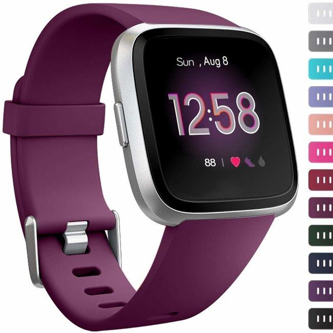 Marque 123watches Fitbit versa sport sangle - violet foncé