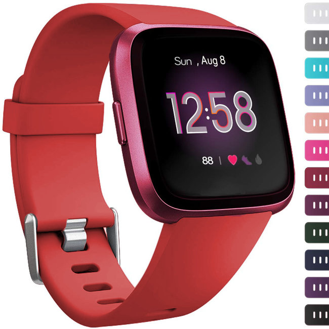 Marque 123watches Fitbit versa sport sangle - rouge