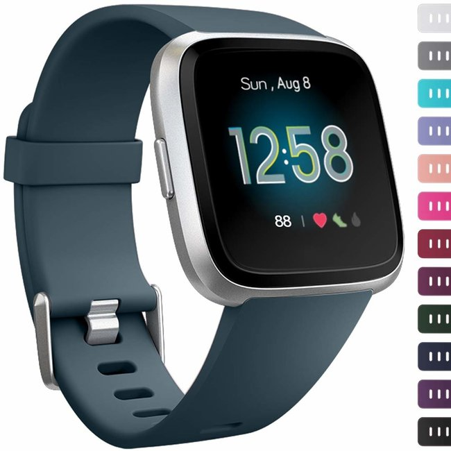 Marque 123watches Fitbit versa sport sangle - ardoise