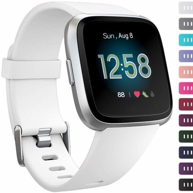 Marque 123watches Fitbit versa sport sangle - blanc