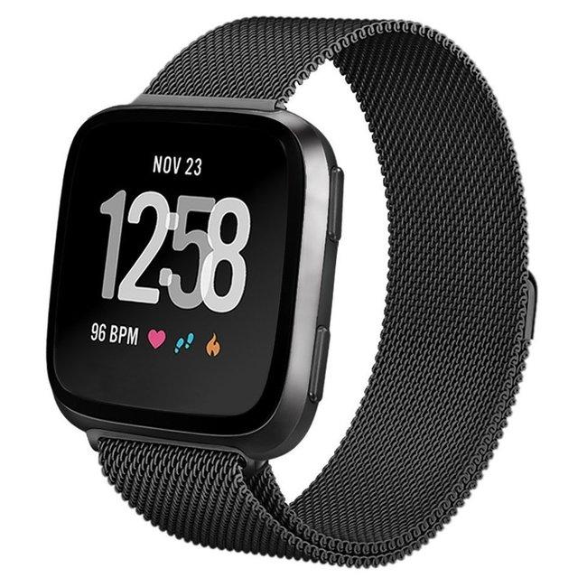 Marque 123watches Fitbit versa milanese band - noir