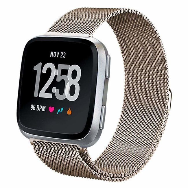 Marque 123watches Fitbit versa milanese band - champagne
