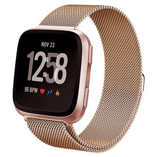 Marque 123watches Fitbit versa milanese band - or rose