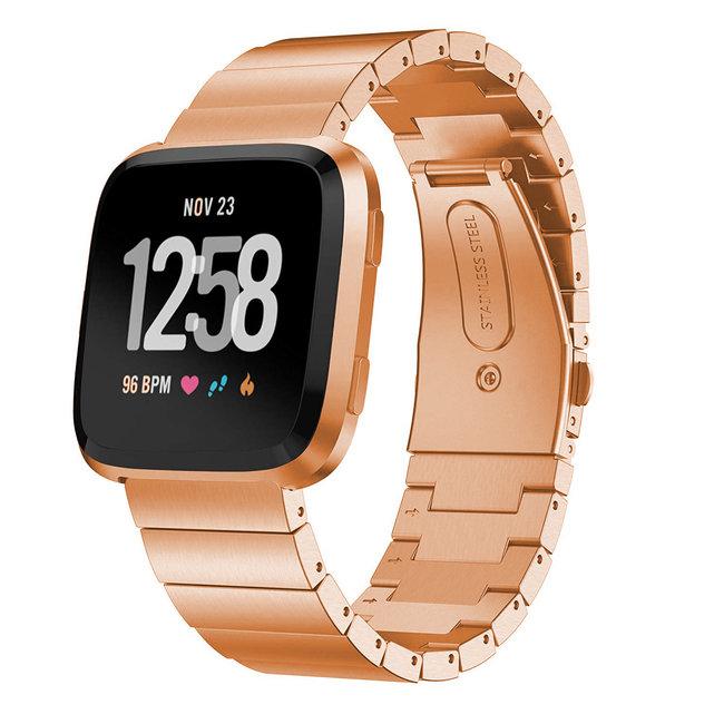 Marque 123watches Fitbit versa bande de lien en acier - or rose