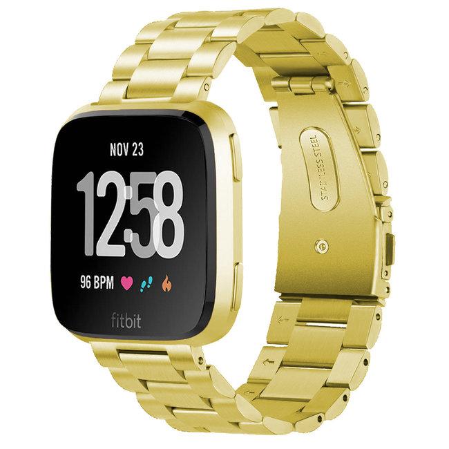 Marque 123watches Fitbit versa bande en acier 3 perles - or