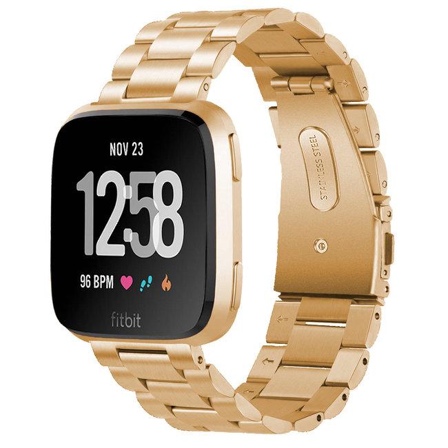 Marque 123watches Fitbit versa bande en acier 3 perles - or rose