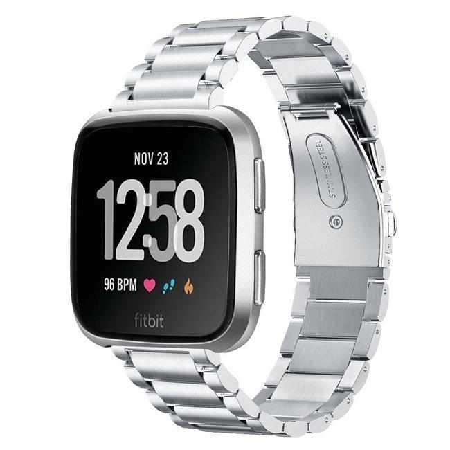 Marque 123watches Fitbit versa bande en acier 3 perles - d'argent