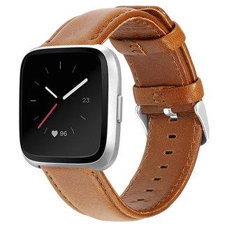Marque 123watches Fitbit Versa bracelet en cuir véritable  - marron clair