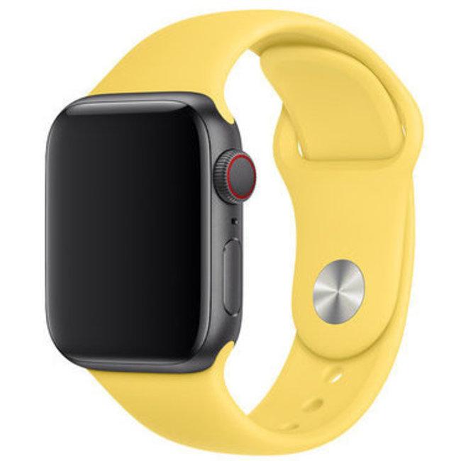 Marque 123watches Apple Watch sport sangle - jaune canari