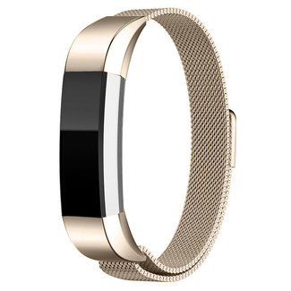 Marque 123watches Fitbit Alta milanese band -  champagne