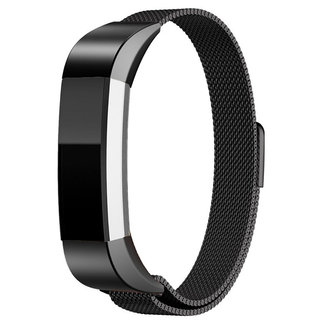 Marque 123watches Fitbit Alta milanese band - noir