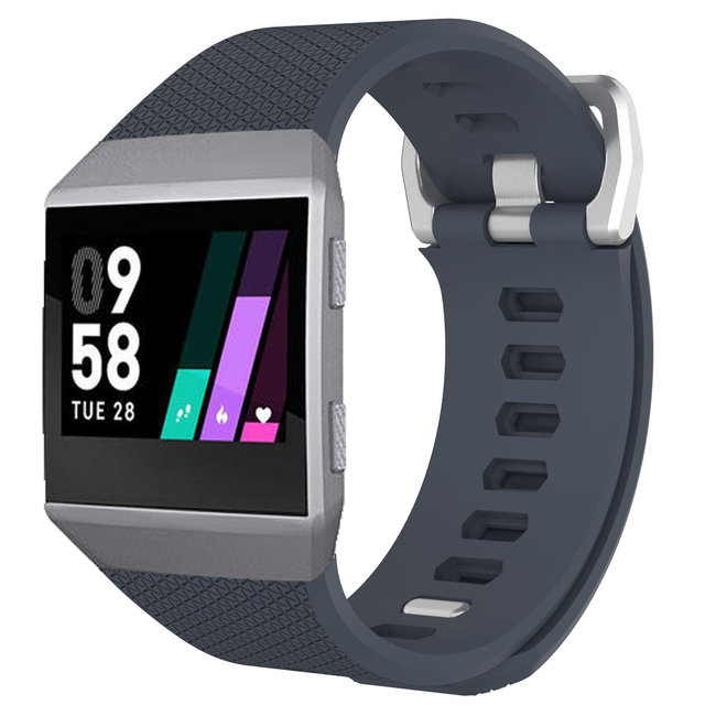 Marque 123watches Fitbit Ionic sport sangle - ardoise