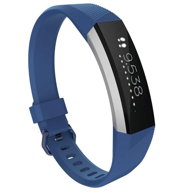 Marque 123watches Fitbit Alta sport sangle - bleu foncé