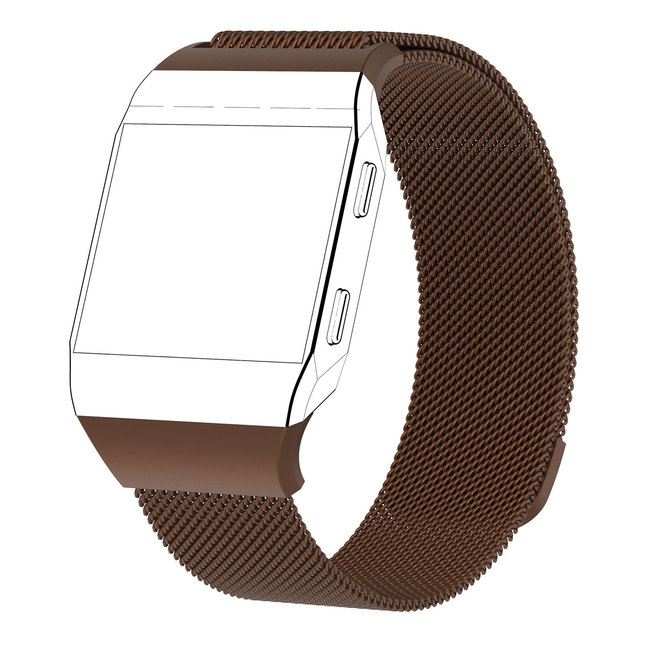 Marque 123watches Fitbit Ionic milanese band - marron