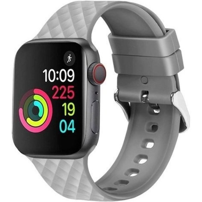 Marque 123watches Apple watch rhombic silicone band - gris