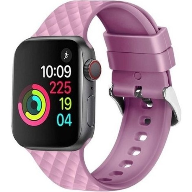 Marque 123watches Apple watch rhombic silicone band - lavande