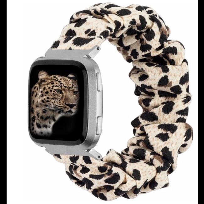 Marque 123watches Fitbit Versa Scrunchie Band - Panthère
