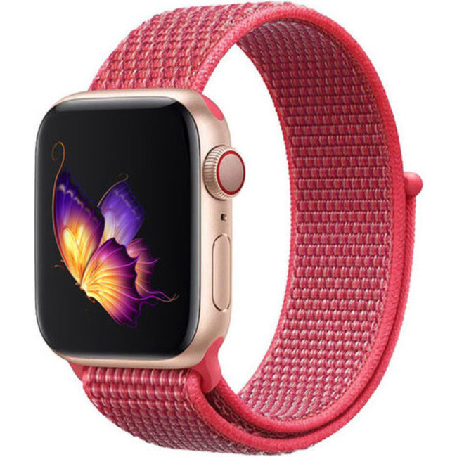 Marque 123watches Apple watch nylon sport loop band - hibiscus
