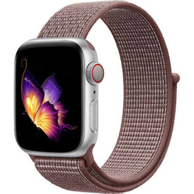 Marque 123watches Apple watch nylon sport loop band - mauve fumé