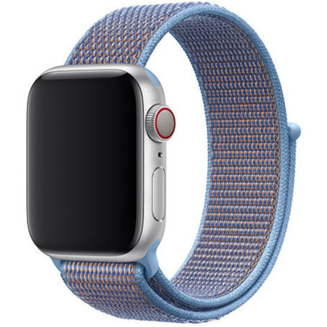 Marque 123watches Apple watch nylon sport loop band - azuré